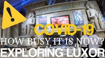 CORONAVIRUS update Las Vegas Exploring Luxor Hotel and Casino March 5th 2020