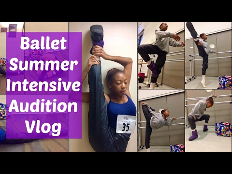 Ballet Summer Intensive Audition Vlog -- Chautauqua and TWSB | Life As Gabi♡♡♡