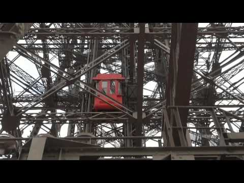 EIFFEL TOWER ELEVATORS/lifts tour - all of them! - part 1