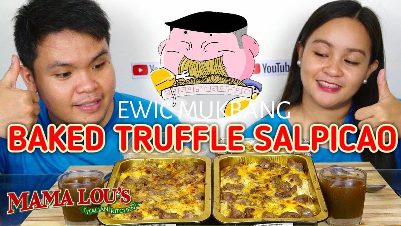 BAKED TRUFFLE SALPICAO Mukbang, Truffle Mac & Cheese And Lucio's Truffle MAMA LOU'S ITALIAN KITCHEN