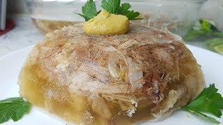 Холодец свиной, цыганка готовит. Gipsy cuisine.