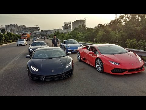 SUPERCARS IN INDIA (Hyderabad) - Sunday Morning Drive
