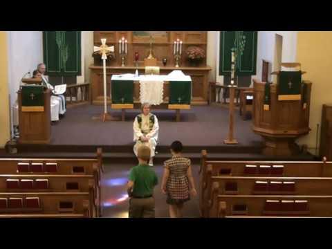 September 4, 2016 worship at Our Savior's, West Salem, Wisconsin