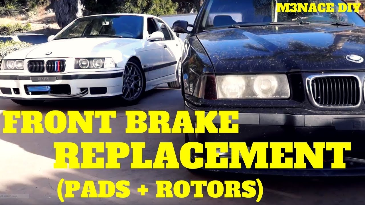 E36 Front Brakes Replacement DIY