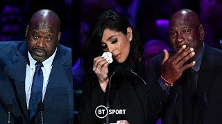 Michael Jordan, Vanessa Bryant, and Shaquille O'Neal pay tribute to Kobe and Gianna Bryant