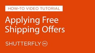 How to Apply Free Shipping Promotions on Shutterfly