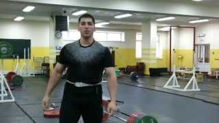 Толчковая тяга с подрывом 240 кг на три раза