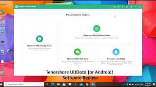 Android Data Recovery Software: Tenorshare UltData for Android  [Software Review]