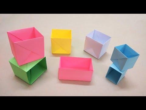 Gấp hộp giấy hình chữ nhật đơn giản - Origami box easy - Gấp Giấy Origami.mp4 | Foci