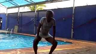 Baby Oku pool dance