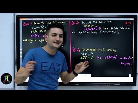 Kümeler 3(Kümelerde İşlemler)  I Ali Ahsen Akti