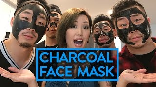 GUYS TRY CHARCOAL FACE MASK FOR THE FIRST TIME | Fung Bros