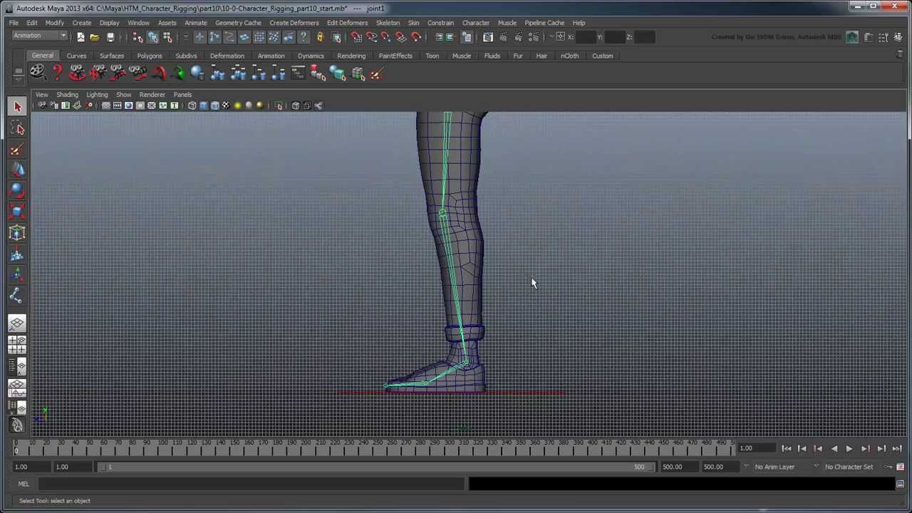 Creating a Character Rig - Part 10: Basic IK, FK, and result leg joints  (Advanced)