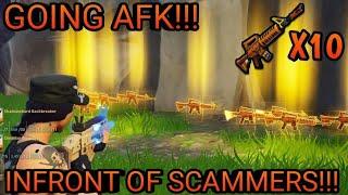 Indo AFK ao negociar meus 10 Diggers grave! (Scammer Obtém scammed) Fortnite salvar o mundo