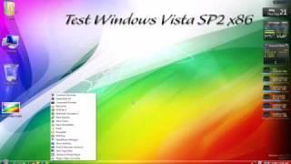 Test Windows Vista Ultimate SP2 x86