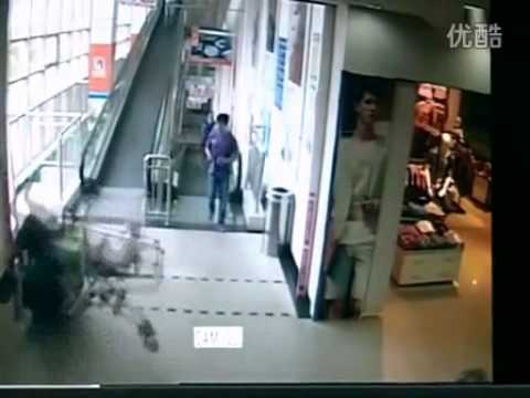 Chinese Customer Killed By A Supermarket Trolley In Shanghai, China