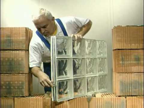 Block lock montage mur de briques de verre en systeme b for Montage carreaux de verre
