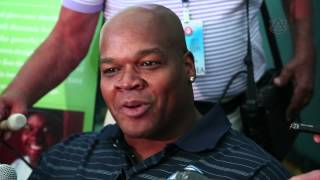Frank Thomas talks before Hall of Fame Inductions