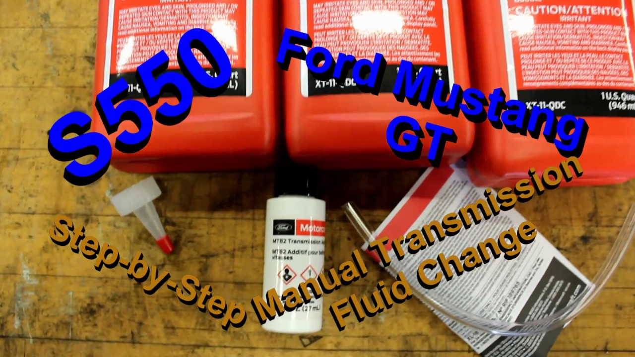 Ford Mustang S550 Step-by-Step Manual Transmission Fluid Change