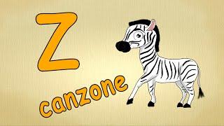 alfabeto italiano pronuncia - Z canzone - alfabeto canzone per bambini