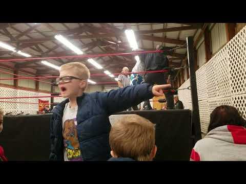 "Mario Jaxon vs ""The classic man"" Robert Alexander top rope 1-6-2018"