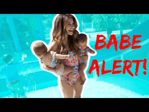 BABES IN THE POOL ALERT!