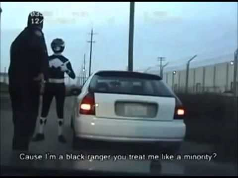 Black power ranger gets pulled over by the police