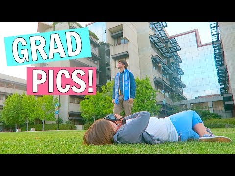 TAKING HIS COLLEGE GRADUATION PHOTOS!