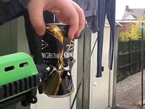 Very strong MG-17 taring threw a can. (BB gun)