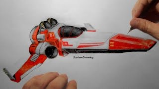 Starship - Speed Drawing - How To Draw - No Man