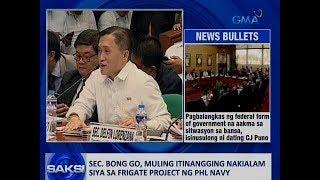 Saksi: Sec. Bong Go, muling itinangging nakialam siya sa Frigate Project ng PHL Navy