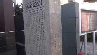 東京 文京区向ヶ丘 夏目漱石旧居跡 Soseki Natsume