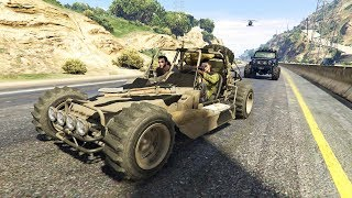 سيارة الدومباغي العسكرية شاهد قوتها ضد الطائرات في قراند أونلاين | GTA Online