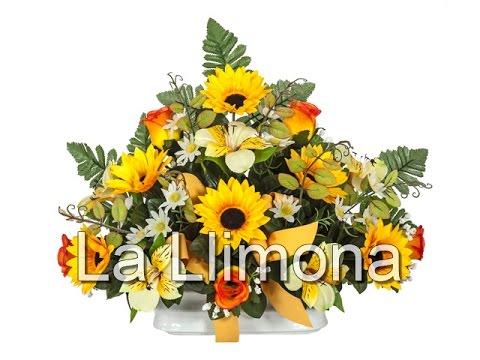 Arreglos florales artificiales jardinera cer mica - Arreglos de flores artificiales ...