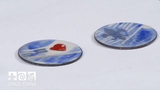 Cool Tools: Enameling with Graphite & Sunshine Colors by Jan Harrell