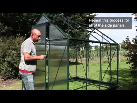 Metal Greenhouse Panel Installation