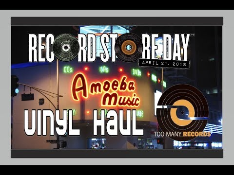 Record Store Day 2018 Vinyl Haul + Vlog at Amoeba Music
