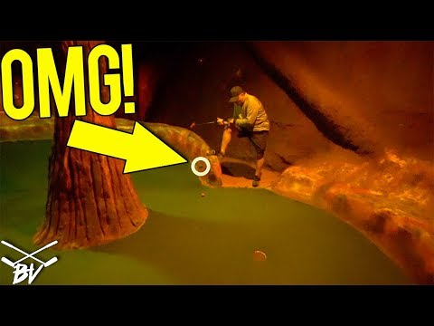 AWESOME AIRTIME MINI GOLF HOLE IN ONE! JUMPING GOLF BALLS FOR A HOLE IN ONE!