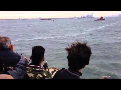 Men jump out from Staten Island ferry