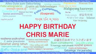 ChrisMarie   Languages Idiomas - Happy Birthday