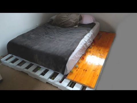 Wood Pallet Bed Platform DIY