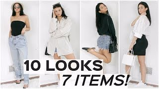 10 LOOKS FROM 7 PIECES! | Grow your closet for free!