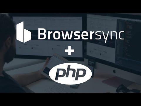 Gulp (Browsersync) + PHP (Open Server)