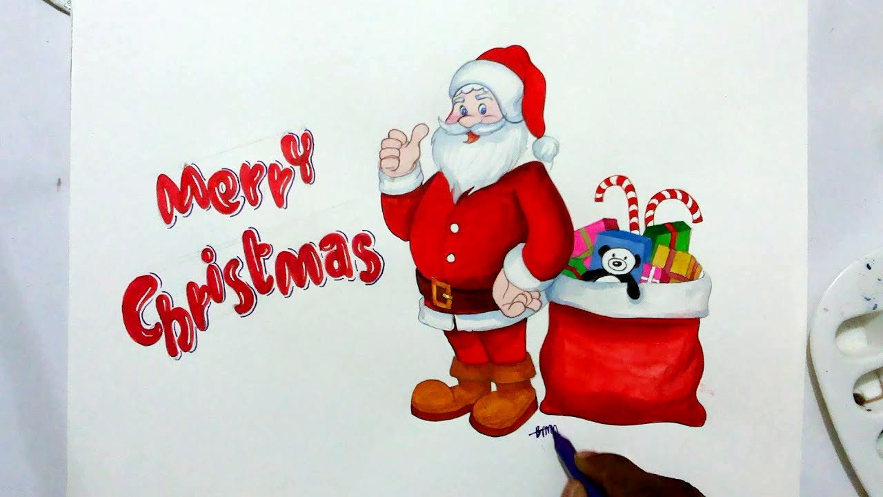 How To Draw Santa Claus-Merry Christmas - YouTube