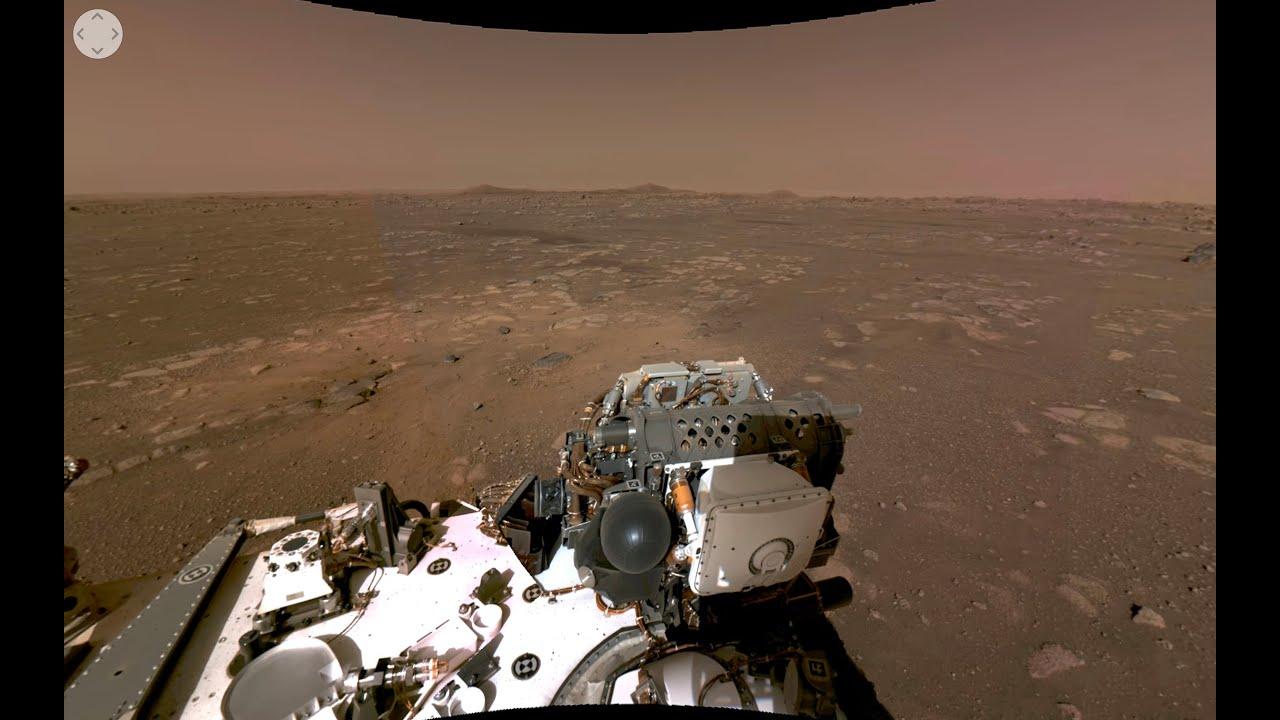 Una vista interattiva a 360 gradi in 4K della superficie di Marte