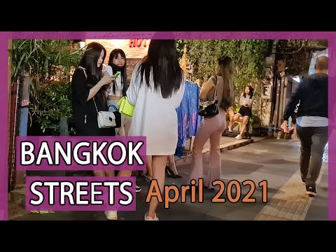 Bangkok Night Street Scenes - Vlog 73 | April 2021
