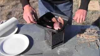 Perfect Bacon And Eggs Outdoor Cooking On The Folding Firebox Stove