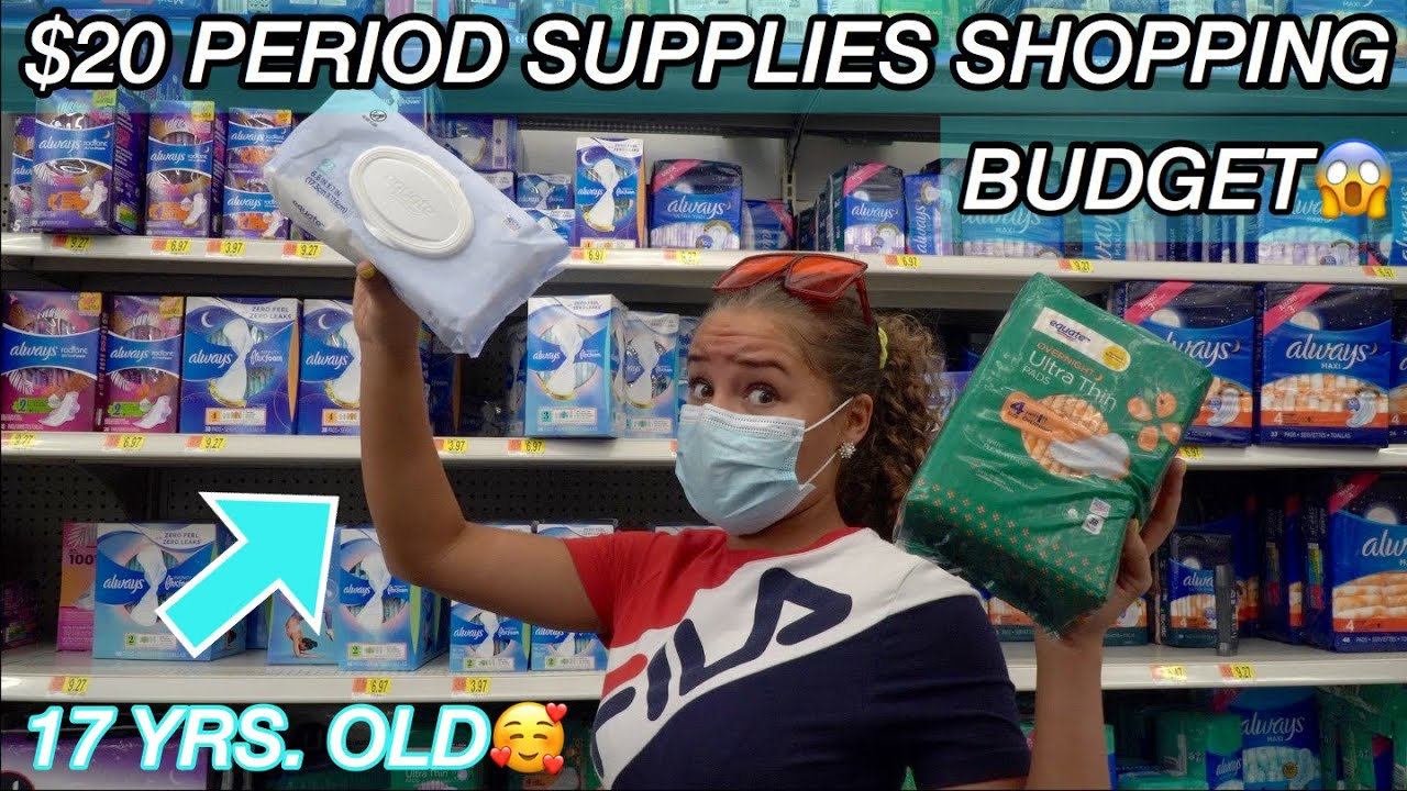 $20 PERIOD SUPPLIES SHOPPING BUDGET!! (+TIPS)
