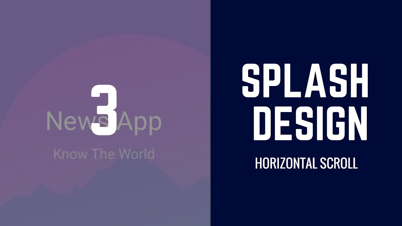 How to Design ionic 2 | 3 app from Start to End (News App) | Making Of  Splash Screen