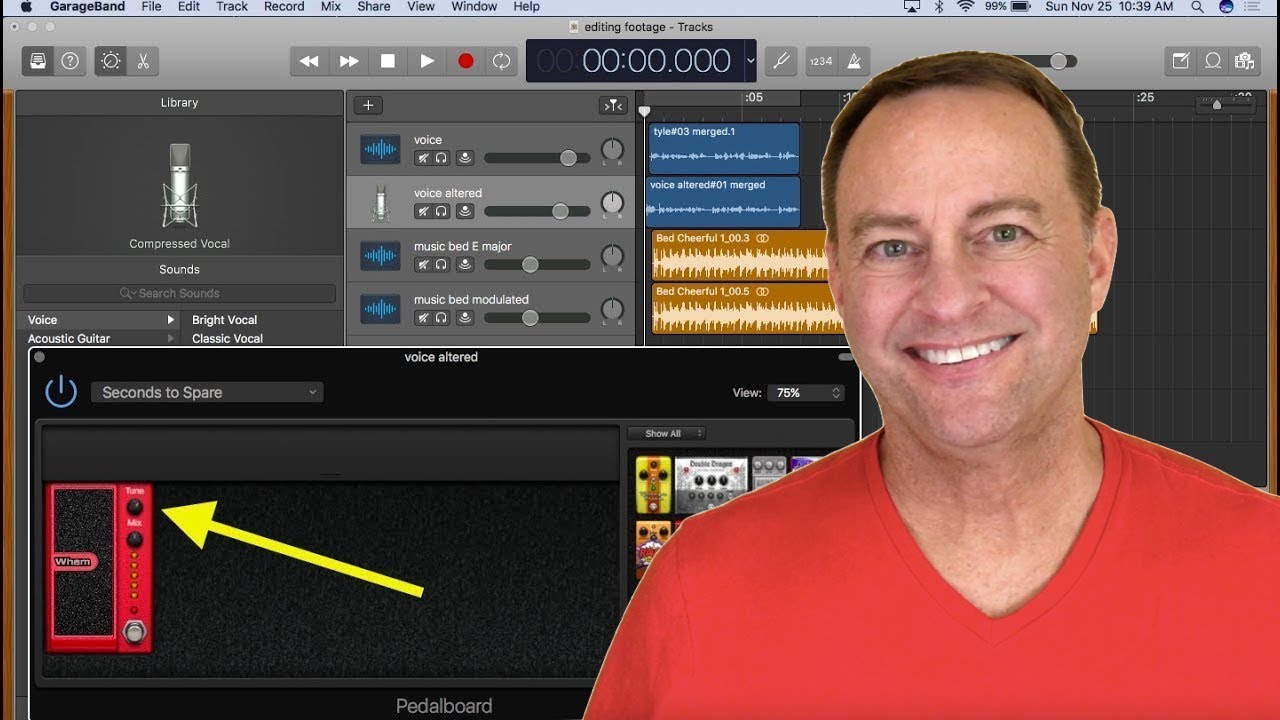 Change the pitch of a song or voice in Garageband 10